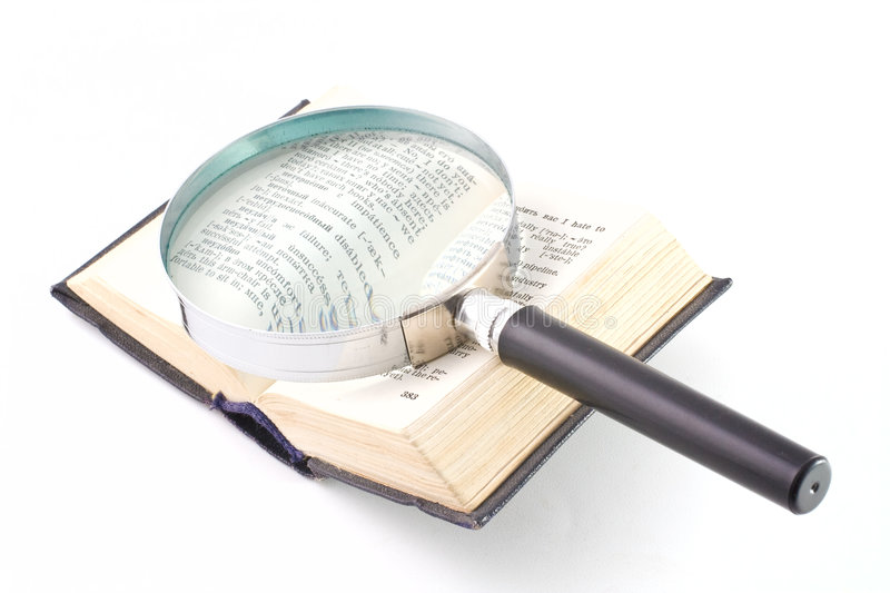 Download Old Book And Magnifying Glass Stock Image - Image: 7117171