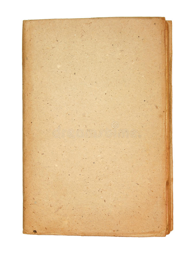 Download Old Book With Old Textured Paper Board Cover Stock Photo - Image of notebook, literature: 20594504