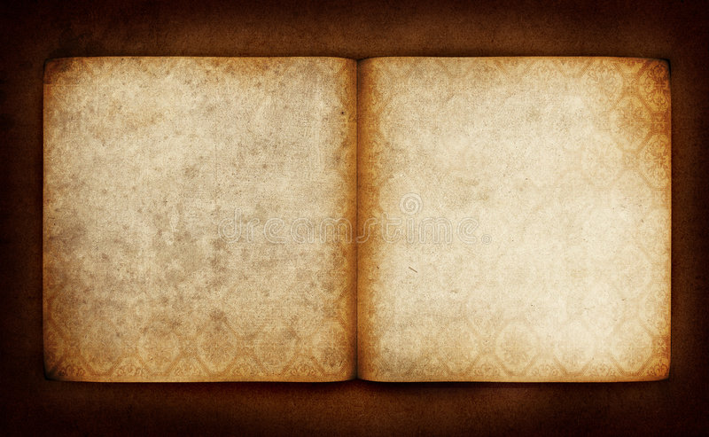 Old book pages. Vintage background - empty book pages royalty free stock photo
