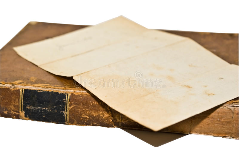 Old Book with Paper royalty free stock images