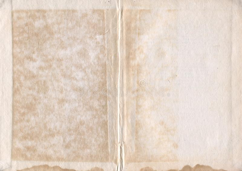 Old book paper grunge texture stock image