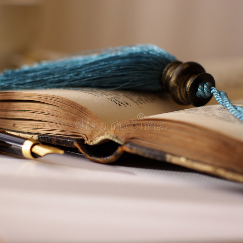 Old Book and Pen royalty free stock photography