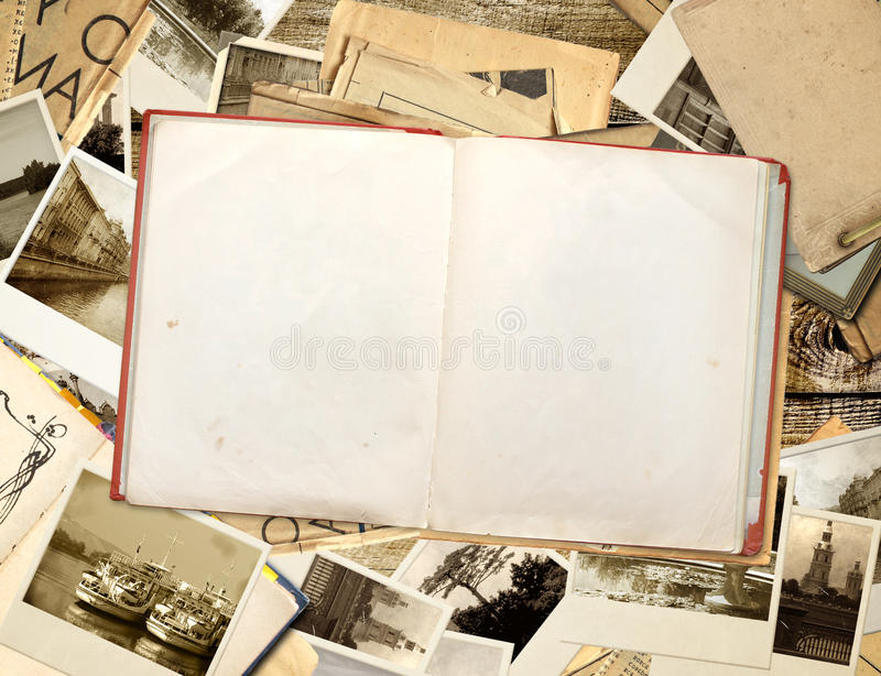Download Old book and photos stock photo. Image of photograph - 21910024