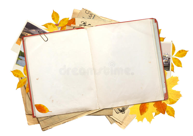 Old Book And Photos Royalty Free Stock Photos