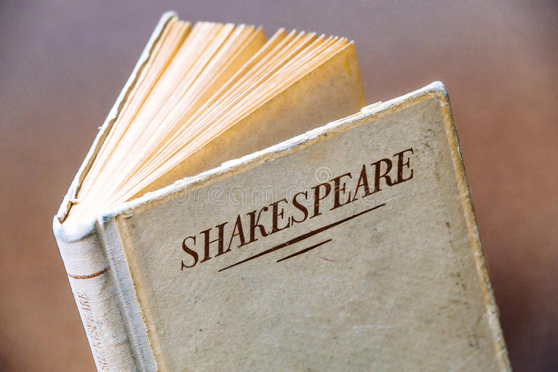 An old book by Shakespeare royalty free stock images