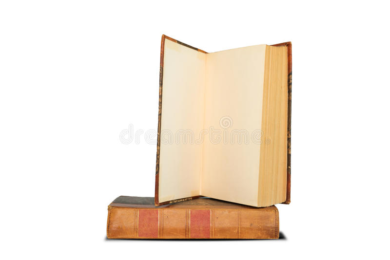 Download Old Book Shelf Isolated On White Background Stock Photo - Image: 83704480