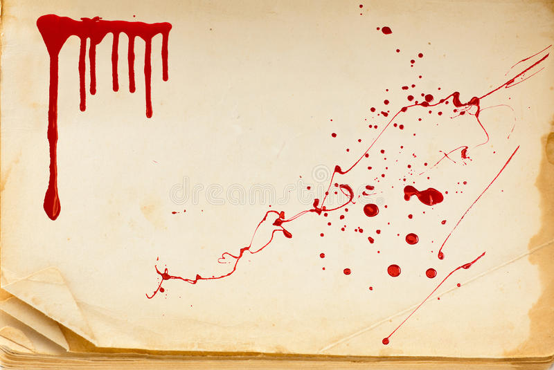 Old book texture page and blood