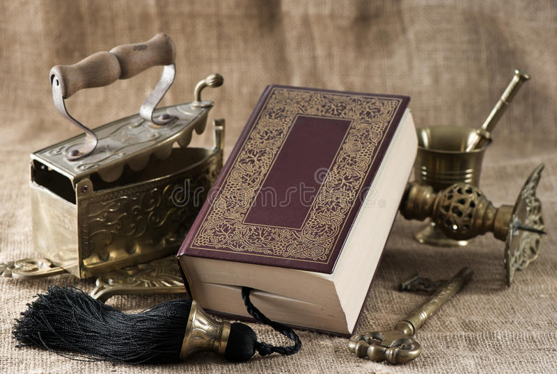 Old Book. Vintage things royalty free stock photos
