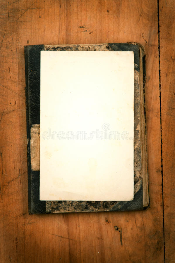 Download Old Book With White Paper As Background Royalty Free Stock Photos - Image: 23245858