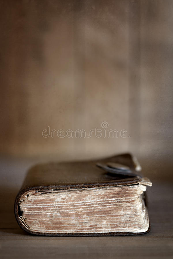 Download Old Book On Wooden Bookshelf Stock Photo - Image: 26600570
