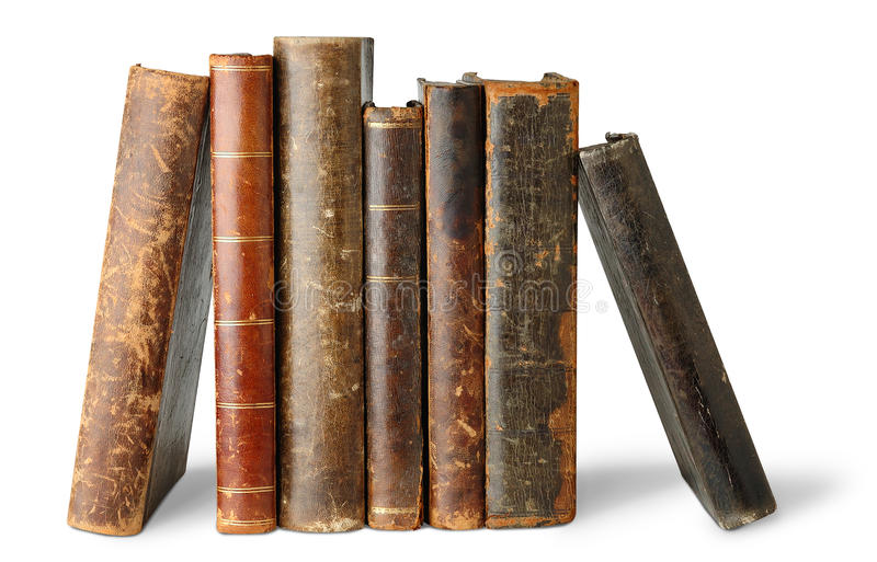 Download Isolated old books stock image. Image of past, library - 15596335