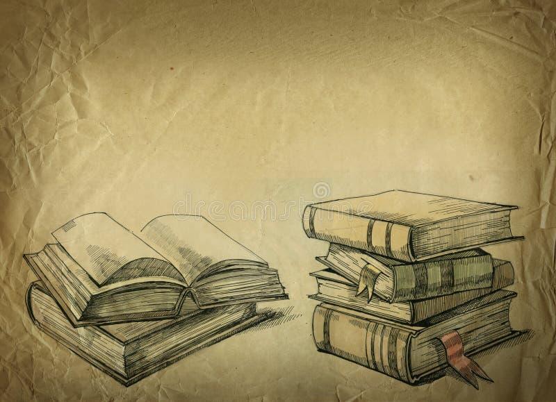 Old books vector illustration