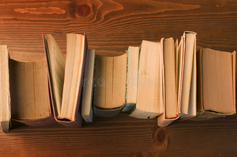 Download Old books stock image. Image of wooden, high, covers, bookcase - 7082285