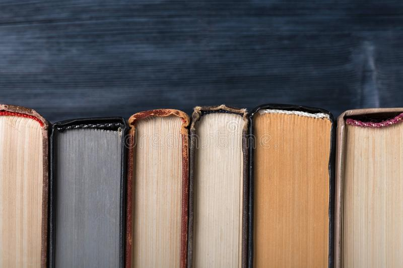 Old books background stock image
