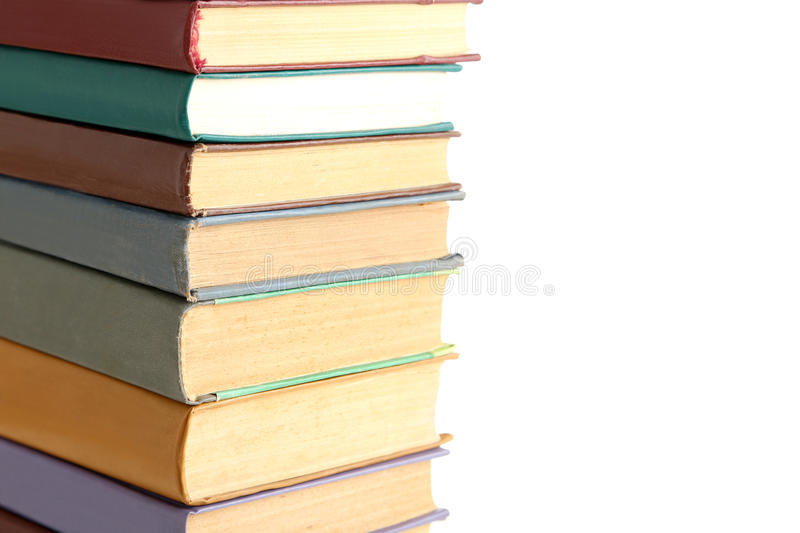 Old books. Isolated on a white background stock photography