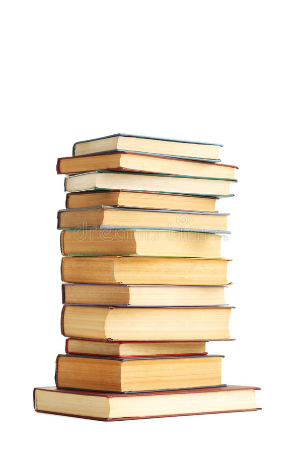 Old books. Isolated on a white background stock image