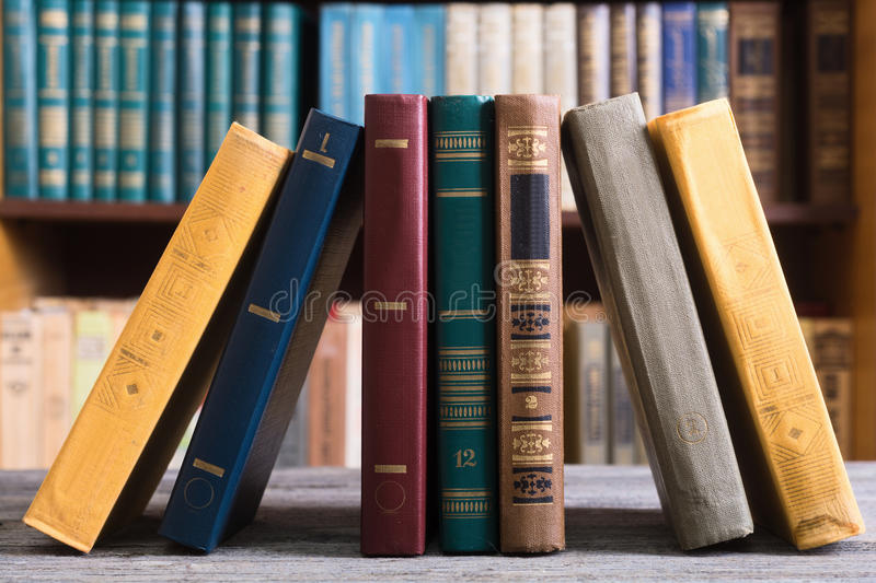 Old books in the Library stock image