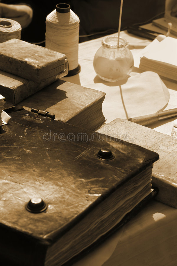 Free Old Books Making Royalty Free Stock Photo - 2606555