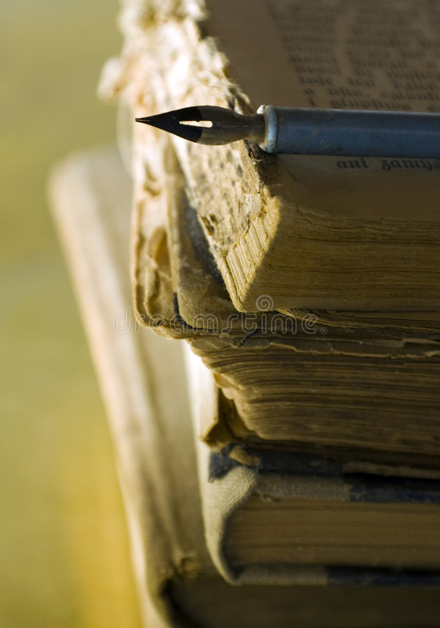 Download Old Books And Pen Stock Image - Image: 7913571