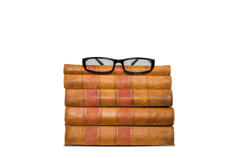 Download Old Books Shelf Isolated On White Background Stock Image - Image: 83705461