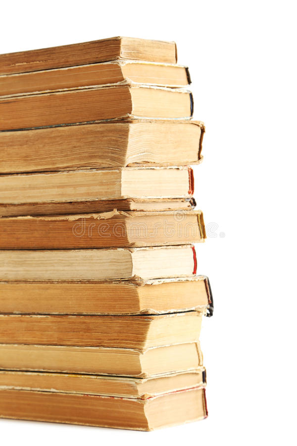 Old books. On a white background royalty free stock images