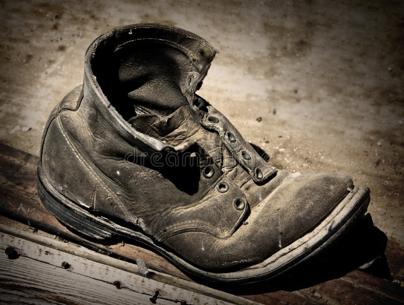Old Boot royalty free stock photography