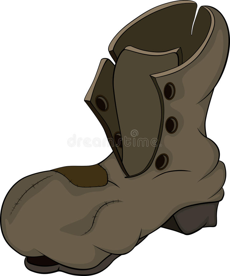 Old boot royalty free illustration