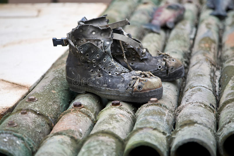 Download Old boots stock image. Image of grungy, worn, bamboo - 13555325