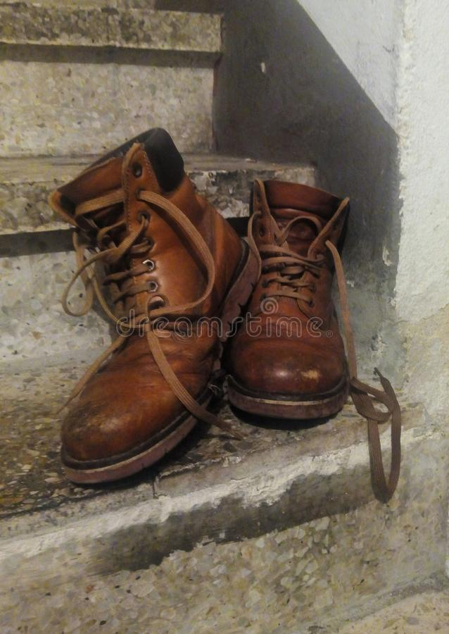 The old boots stock image