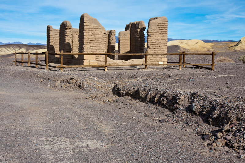 Old Borax Mine Site royalty free stock image