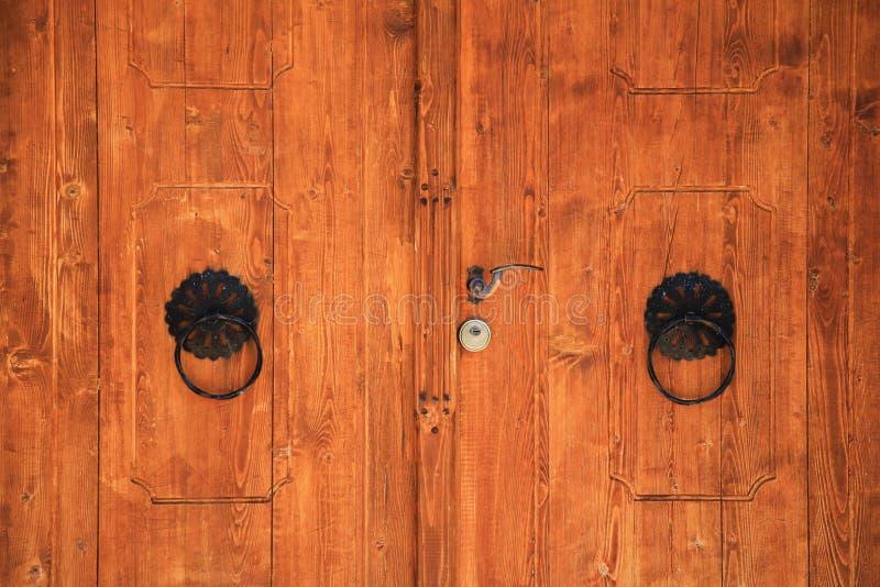Old Bosnian door in Pocitelj. Near the Mostar stock image