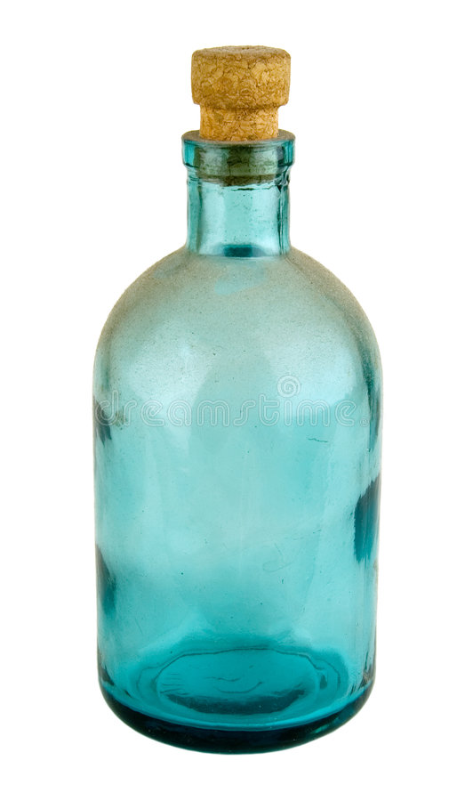 Old bottle. For a drugstore or perfumery royalty free stock photography