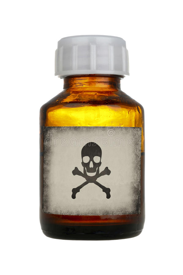 Old bottle of poison royalty free stock photography