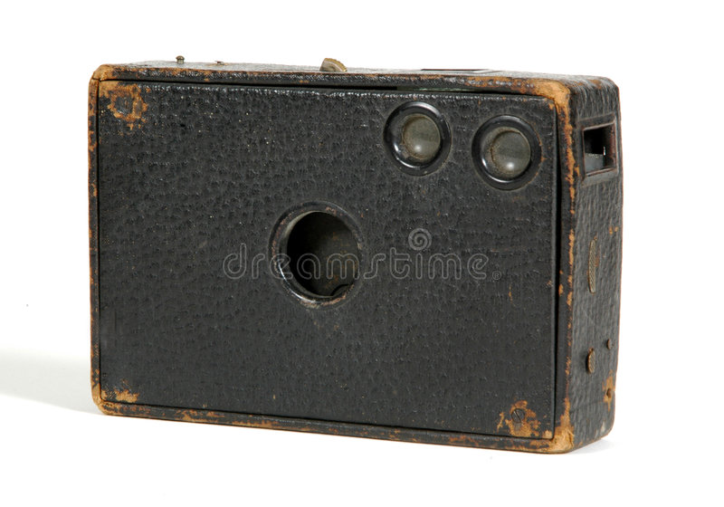 Download Old box camera stock photo. Image of leather, camera, film - 627360