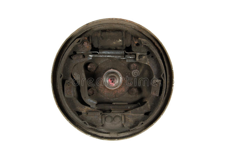 Download Old Brake Pads And Cylinder Brake Drum (isolated) Stock Image - Image: 24086939