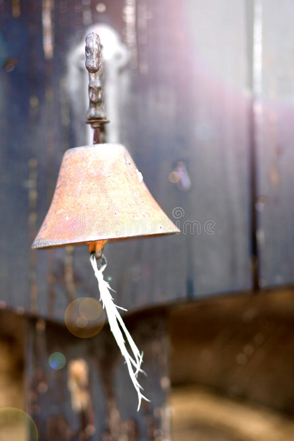 Old brass bell stock image