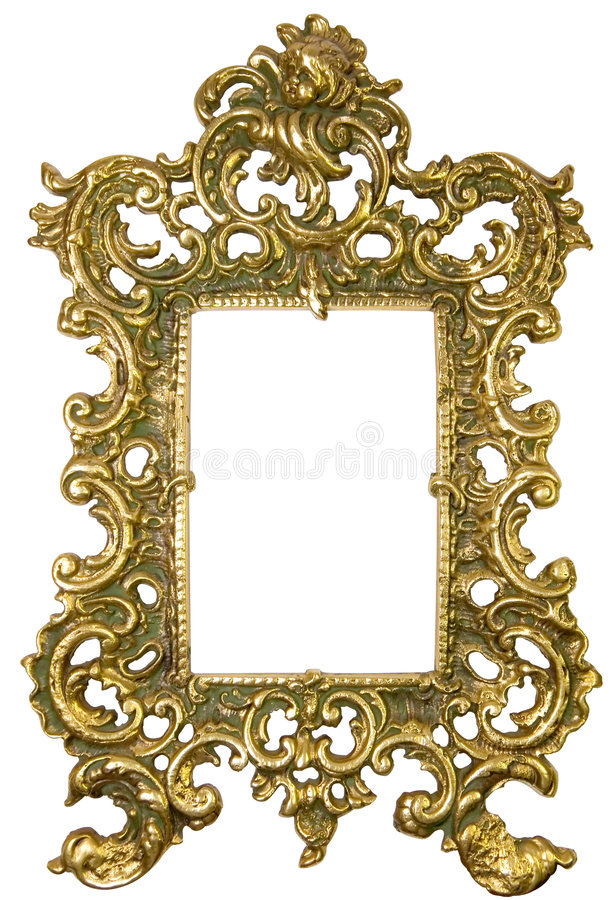 Old brass frame royalty free stock photo