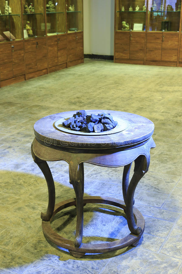 Old brazier. A old brazier in the room stock photos