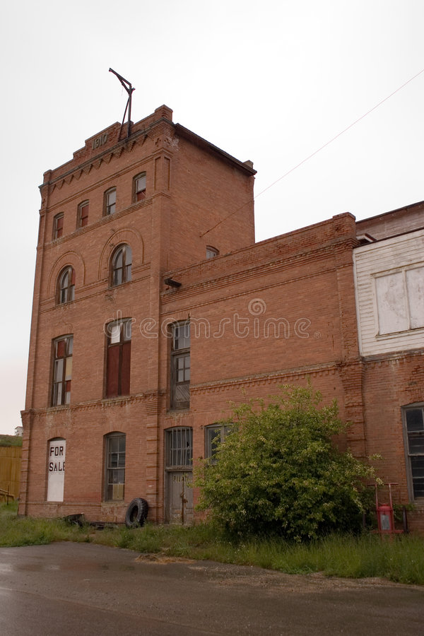 Old brewery. An old brick brewery building in Red Lodge, Montana royalty free stock photos