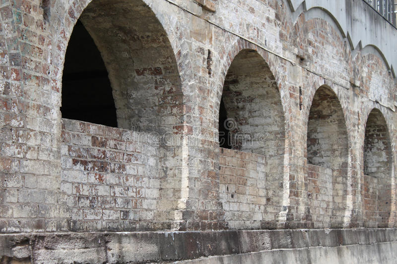 Old brick arch royalty free stock photos