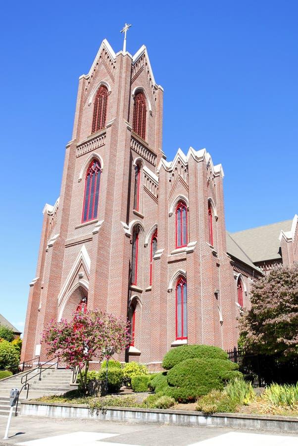 Download Old brick church stock photo. Image of church, crucifix - 20876114