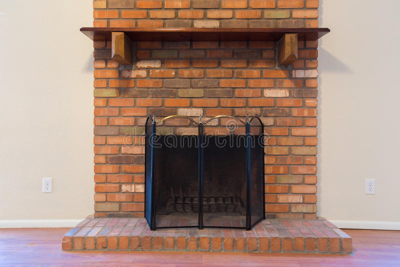 Download Old Brick Fireplace Stock Photo. Image Of Interior, Floor    50252346