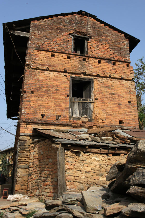 Download Old Brick House In Bandipur Stock Photo - Image: 24161232