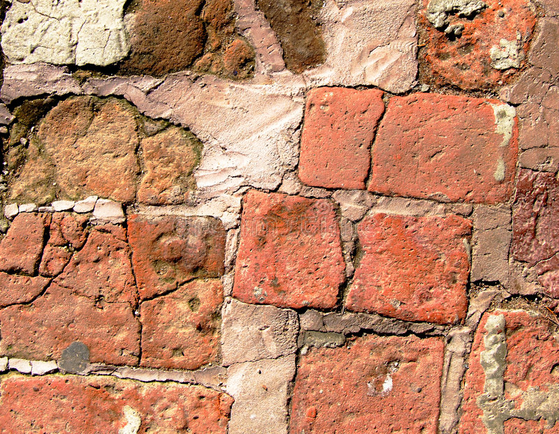 Old Brick Path royalty free stock photo
