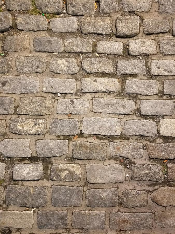 old brick textured background with dirt royalty free stock photography
