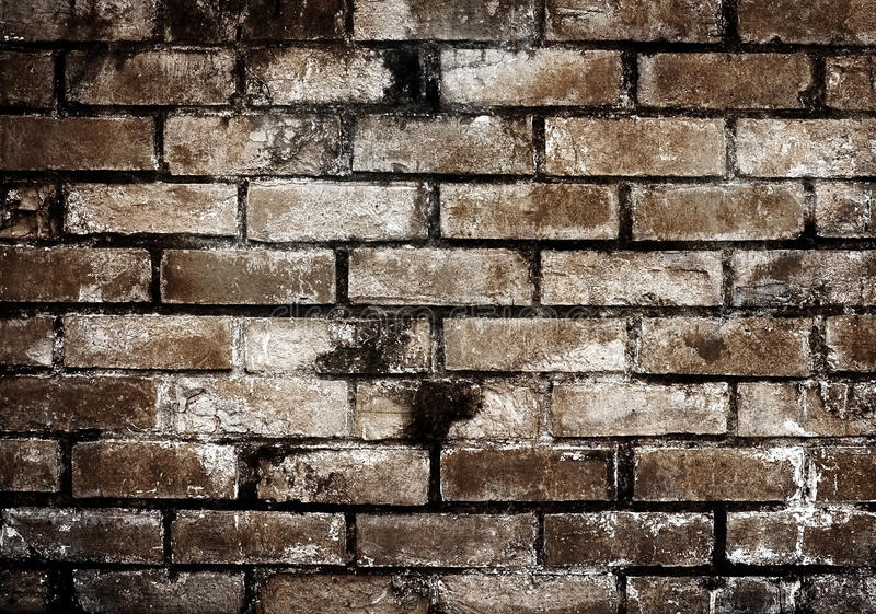 Download Old brick wall stock photo. Image of brown, pieces, background - 12747938
