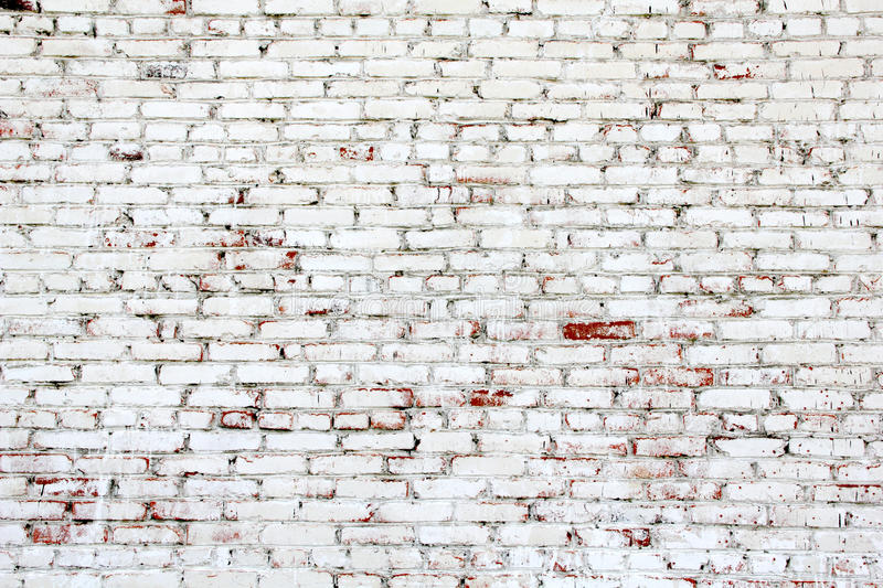 Old brick wall. With white and red bricks stock images