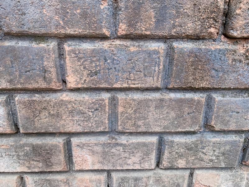 The old brick wall background stock photo