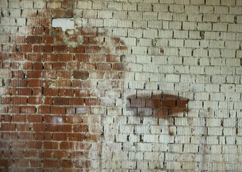 Old brick wall in a background image stock image