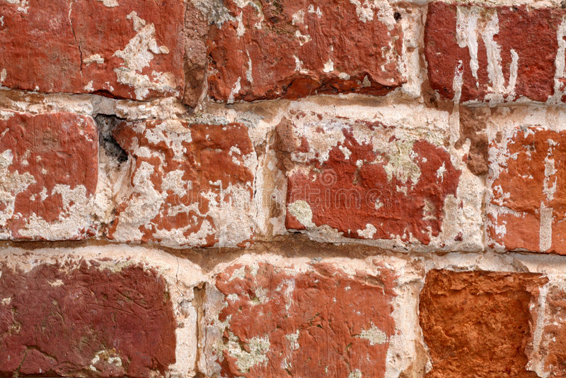 Old brick wall close up royalty free stock photo